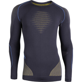 UYN Evolutyon UW Jersey manga larga Hombre, charcoal/gold/atlantic